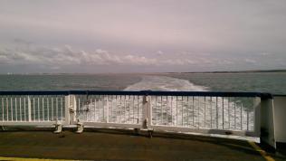 Leaving France behind us.