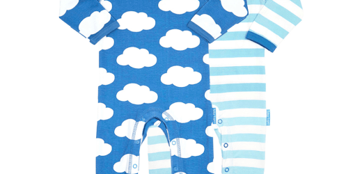 Organic Cotton Clothes – Cloud Babygrows 2 Pack