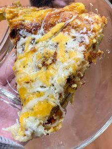 Cheesy Spanish Omelette Slice