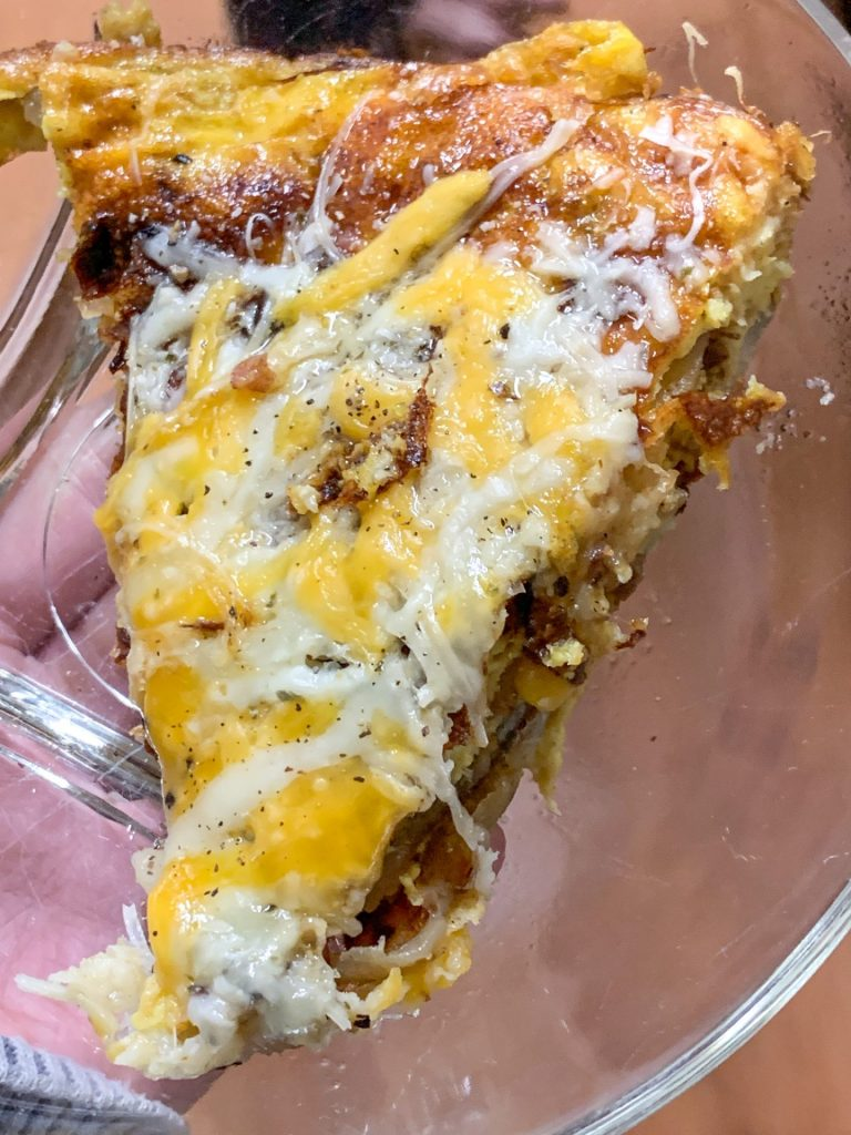 Cheesy Spanish Omelette Slice