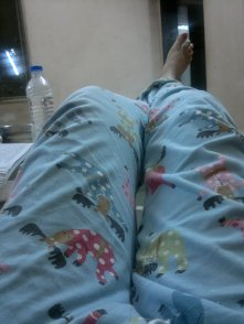 When you wear pretty jammies and you're bored of studying!