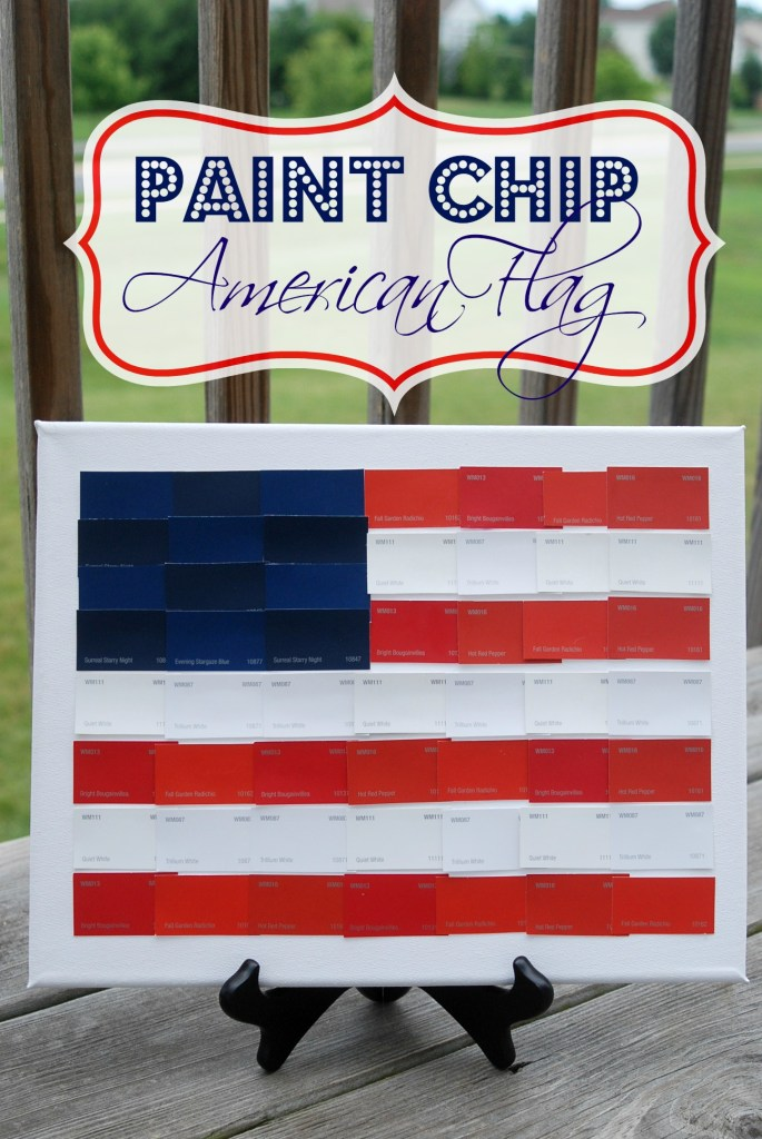 Paint Chip American Flag from Endlessly Inspired