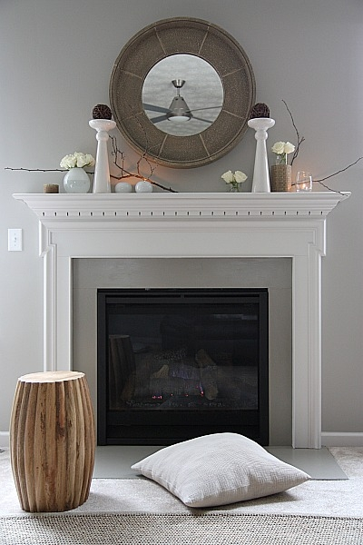 Set eggshape mantel