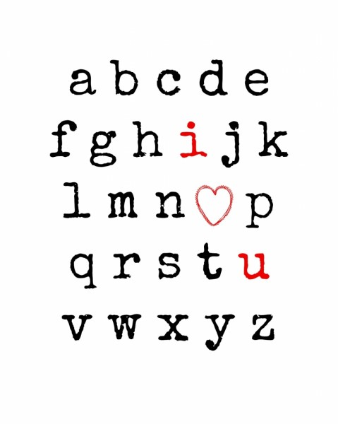 I Love You Alphabet Free Printable from Endlessly Inspired