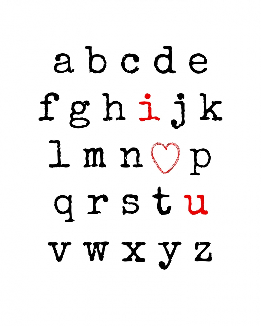 photo regarding I Love You Because Printable referred to as I Take pleasure in Yourself Alphabet Totally free Printable Without end Influenced