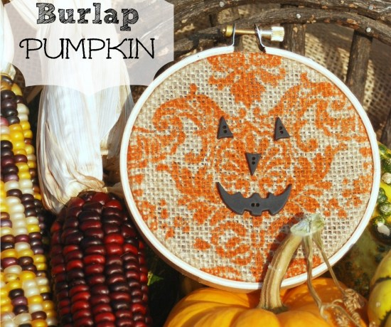 Learn how to make this adorable burlap pumpkin in just minutes!