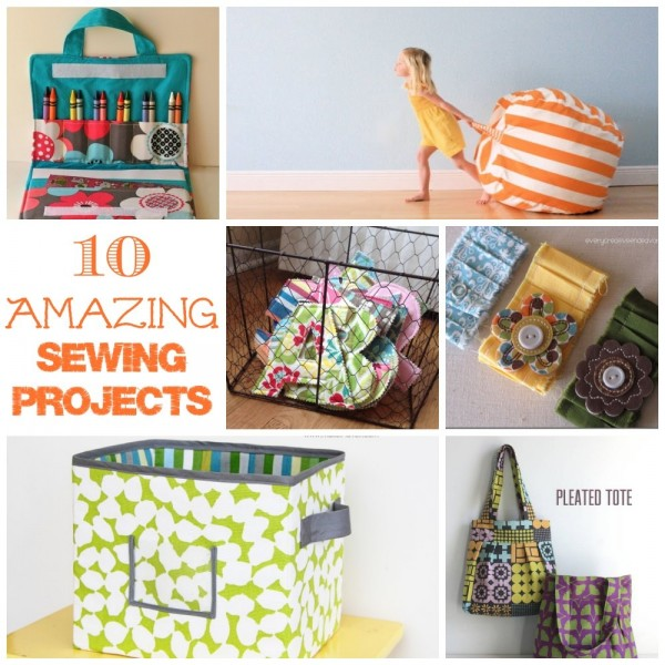 A collection of 10 amazing sewing projects for your home, your kids and you!
