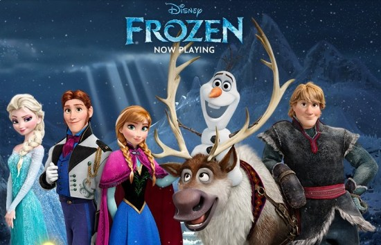 A #FrozenFun snow day with toys, books, and music from the movie FROZEN.