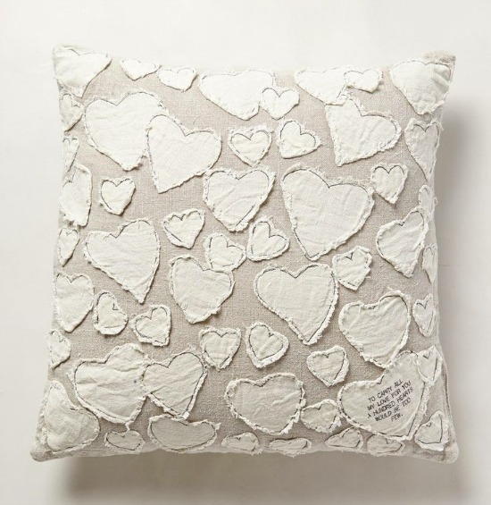 Learn how to make this $198 Anthropologie heart pillow for less than $10!