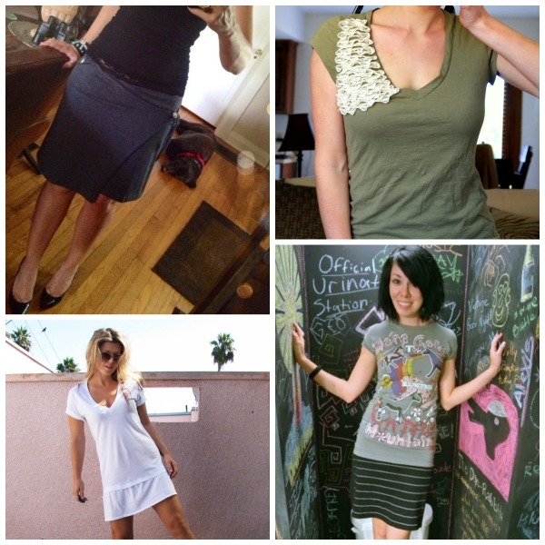 A collection of 28 incredible t-shirt refashions to DIY!