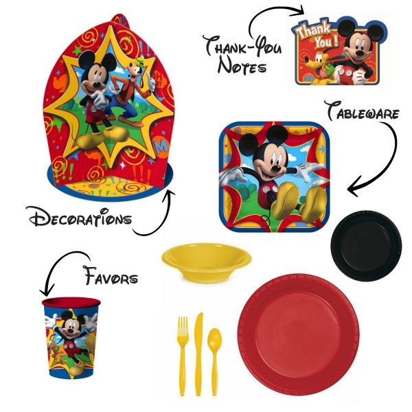 This Mickey Mouse birthday party has so many cute ideas!