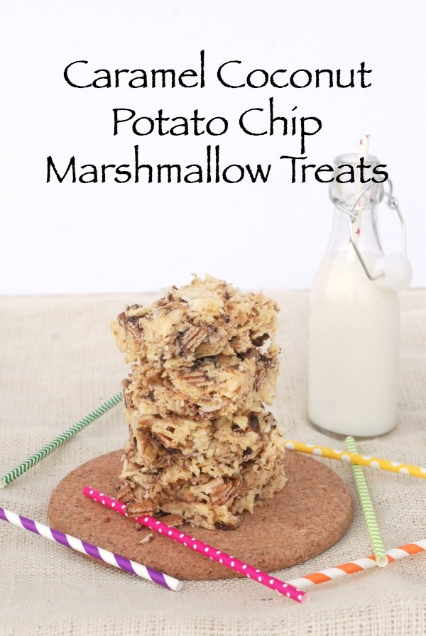 These Caramel Coconut Potato Chip Marshmallow Treats are sweet, salty and amazing! #Cookies2Crunch #shop #cbias