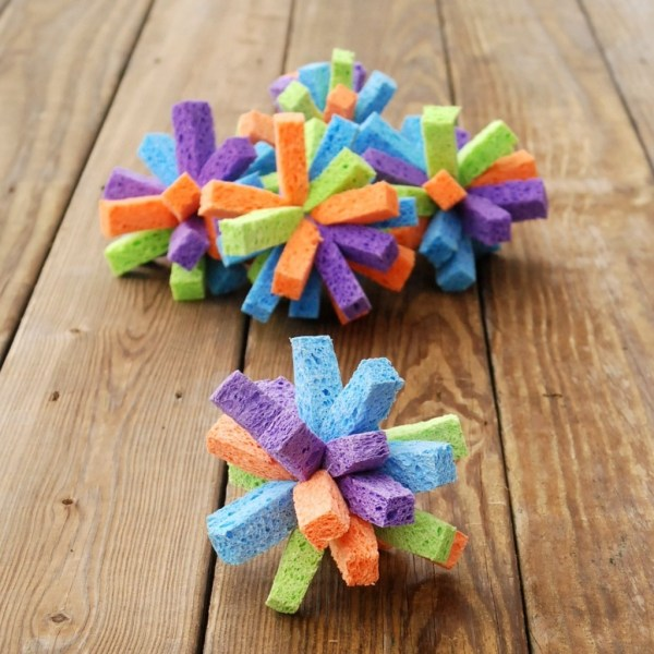 Sponge water bombs: These are so easy and inexpensive to make, but they create endless hours of summer fun!