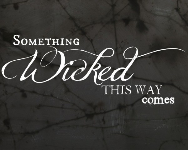 "Download this free ""Something Wicked This Way Comes"" Halloween printable! #31DaysofHalloween"