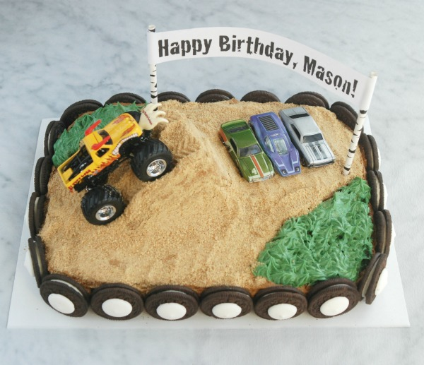 Easy Monster Truck Birthday Cake | Endlessly Inspired