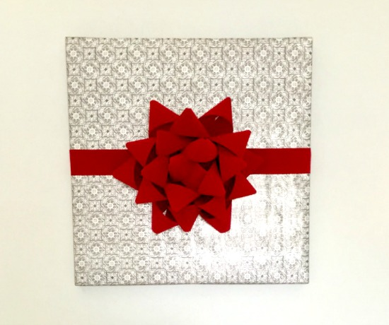 Making a huge present-style bow out of ribbon is actually way easier than you'd think!