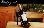 WHERE'D YA GET THAT? - Misterio Cabernet Sauvignon and Sequined Shoe Wine Holder.