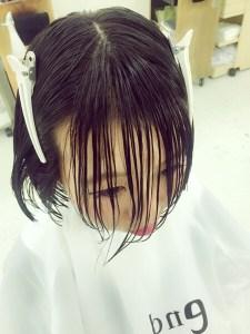 ばっさり前髪カットが急増中☆