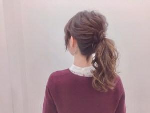 特別な日のヘアセット♡カジュアルポニー