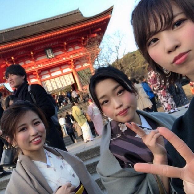 2019年あけまして、年女山口着物で京都観光してきました!