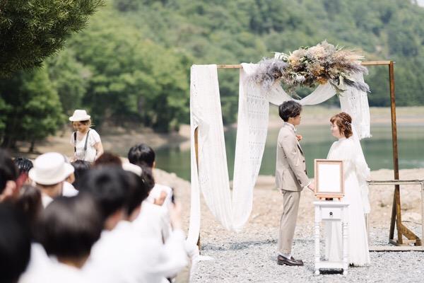 オシャレな森での結婚式に行ってきました♪