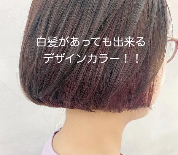 白髪の方でも諦めないで!!白髪染め×デザインカラーのご紹介!!