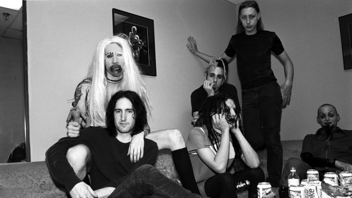 Marilyn Manson And Trent Reznor Backstage At The Jon Stewart Show
