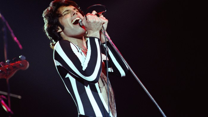 Freddie Mercury Of Queen Performs Live
