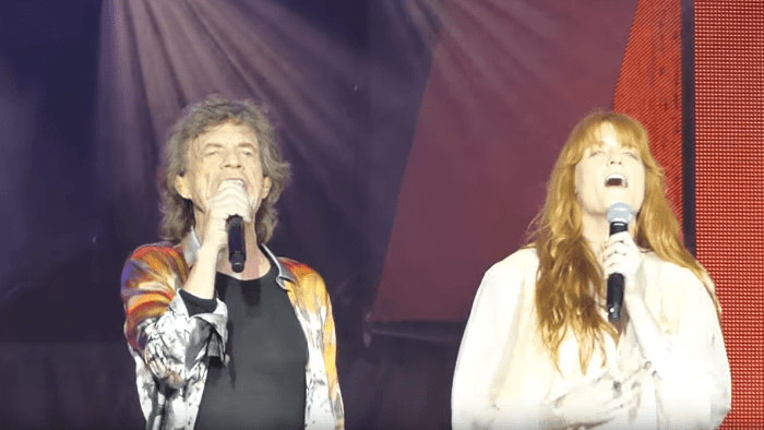 the rolling stones florence welch wild horses londra
