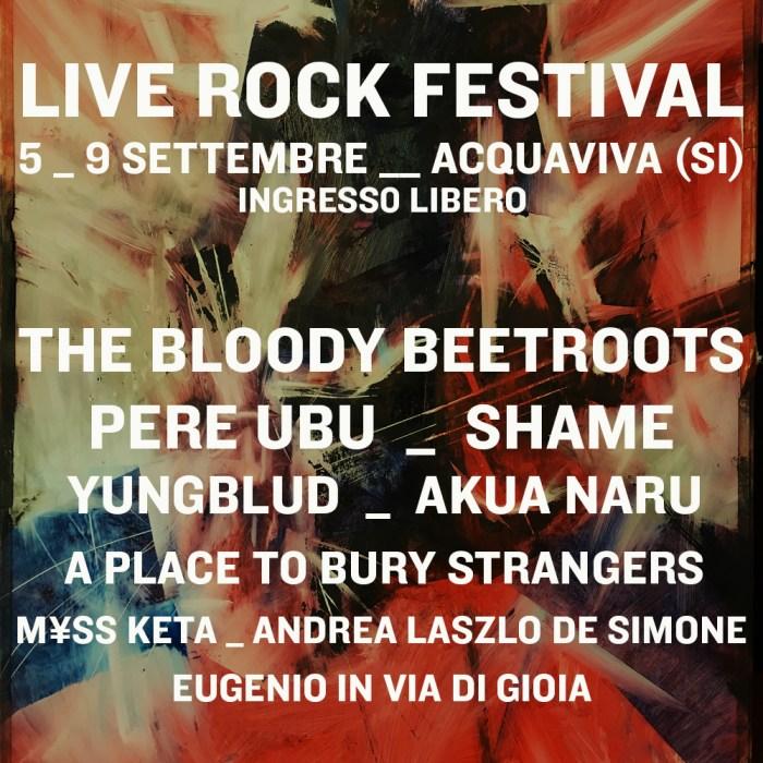 Live Rock Festival lineup locandina