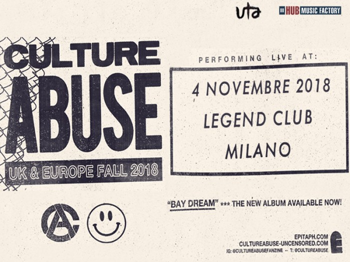 culture abuse locandina concerto 4 novembre legend club milano
