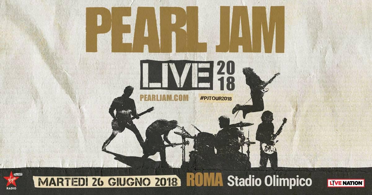 Pearl Jam all'Olimpico: un trionfo di musica ed emozione