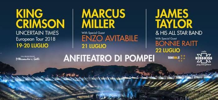 pompei-summer-festival-concerti-king-crimson-marcus-miller-james-taylor-foto