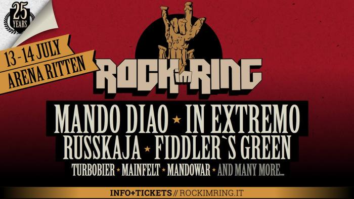 Rock Im Ring 2018 locandina Mando Diao