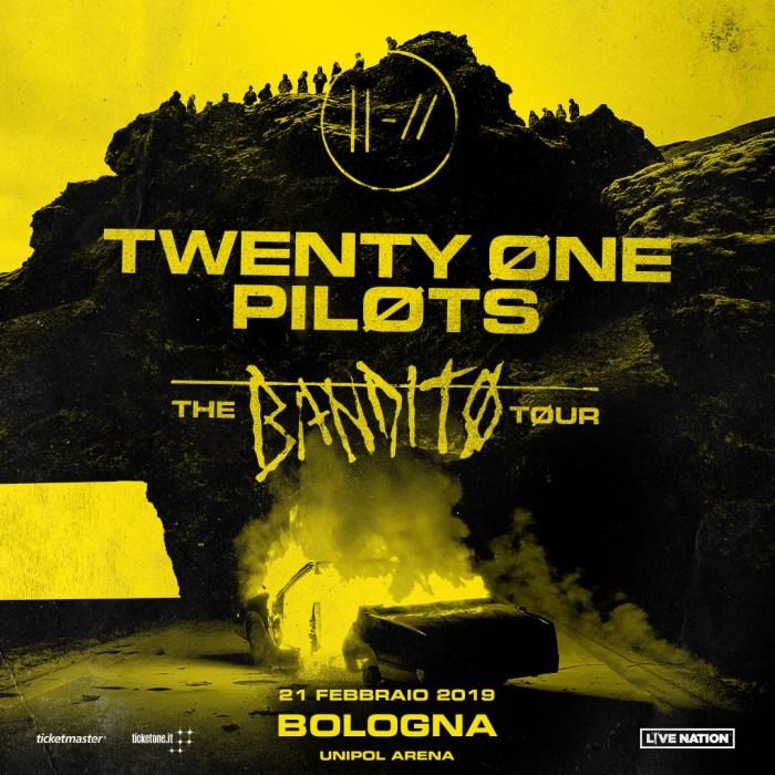 twenty one pilots concerto 21 febbraio 2019 unipol arena bologna