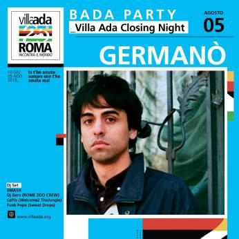 Germanò Villa Ada Roma concerto 5 agosto 2018