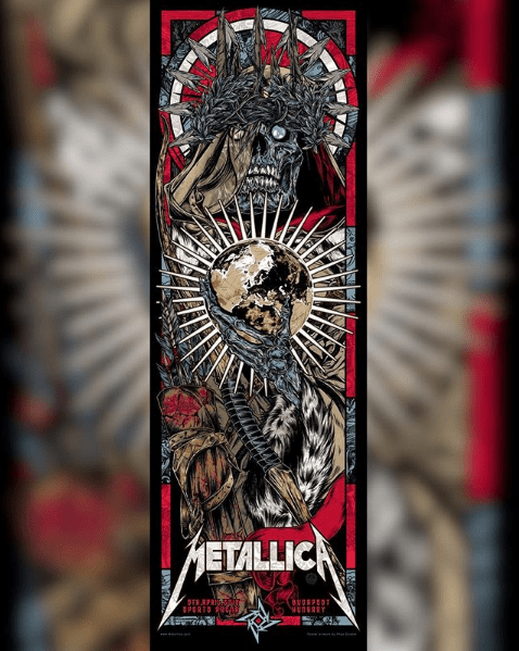 Metallica locandina concerto Budapest 5 aprile 2018