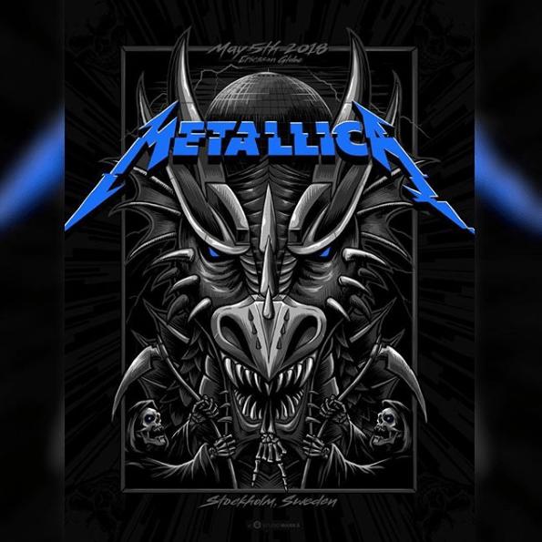 Metallica locandina concerto Stoccolma 5 maggio 2018