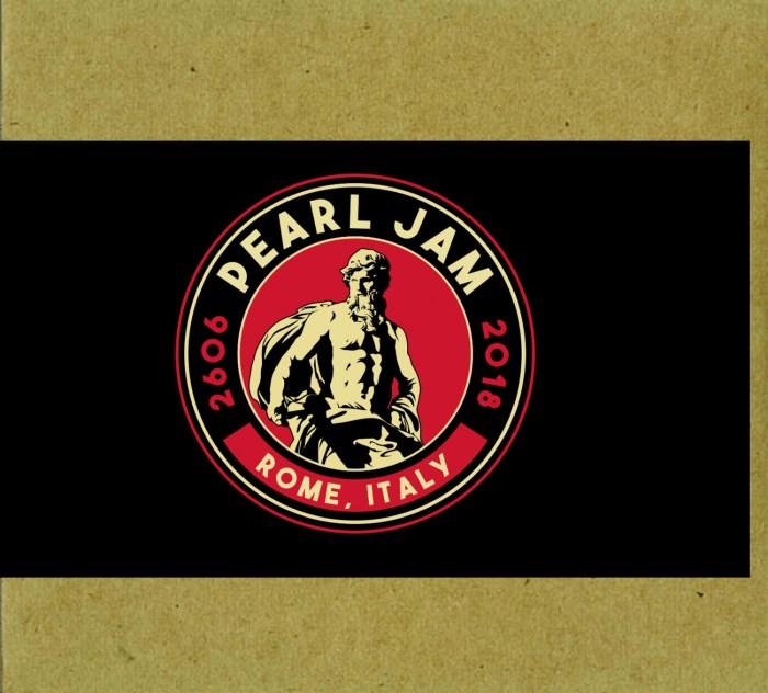 Pearl Jam copertina cover bootleg concerto 26 giugno 2018 Stadio Olimpico, Roma