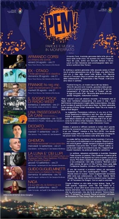 PeM - Parole e Musica in Monferrato 2018 dal 24 agosto al 20 settembre con Ghemon, Nada, Frankie Hi-Nrg MC, Diodato e altri