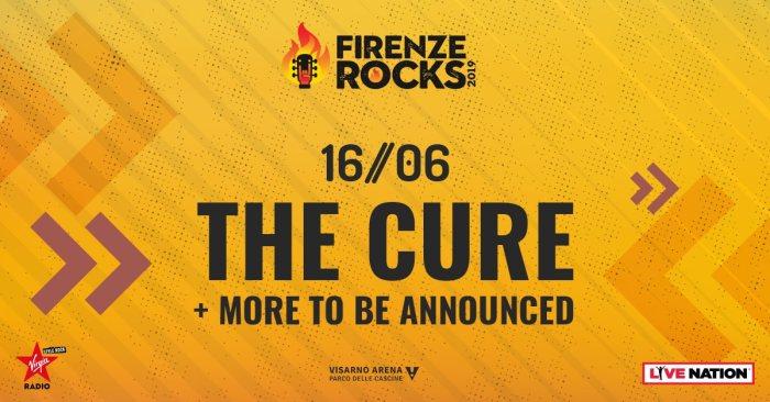 The Cure si esibiranno domenica 16 giugno 2019 alla Visarno Arena per il Firenze Rocks