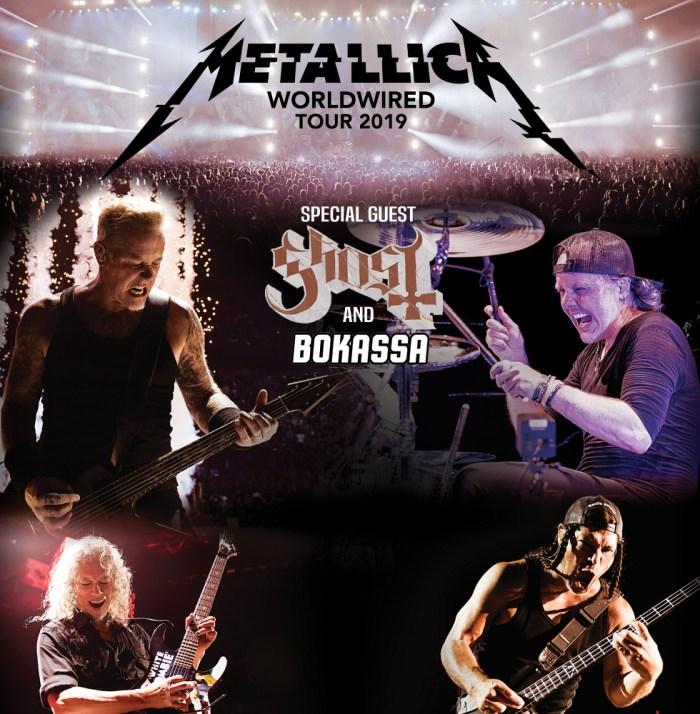 Metallica in concerto l'8 maggio 2019 al Milano Summer Festival con Ghost e Bokassa