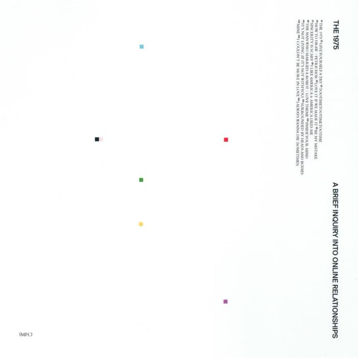 "The 1975 copertina nuovo album ""A Brief Inquiry Into Online Relationships"" in uscita il 30 novembre"