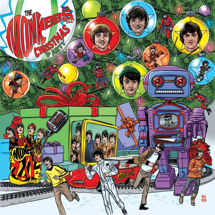 """""""Christmas Party"""" album cover copertina The Monkees"""