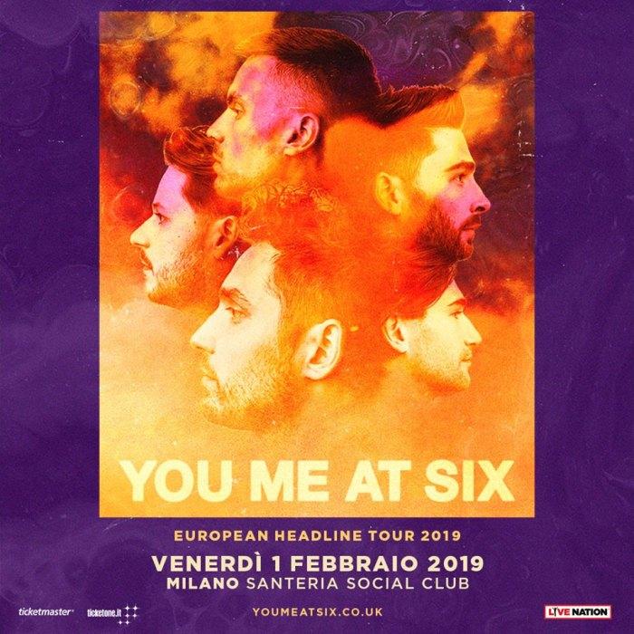 You Me At Six concerto venerdì 1 febbraio 2019 al Santeria Social Club di Milano