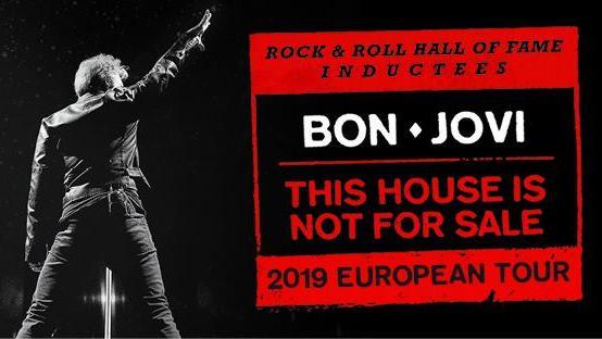 """Bon Jovi arriva in Europa con il """"This House Is Not For Sale 2019 European Tour"""" ma non ci sono al momento date in Italia"""