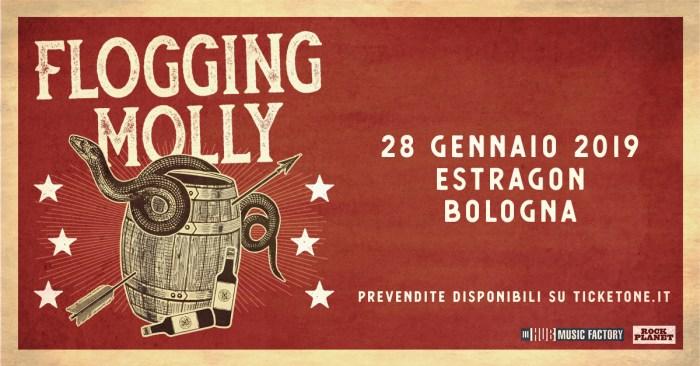 I Flogging Molly tornano in concerto il 28 gennaio 2019 all'Estragon di Bologna