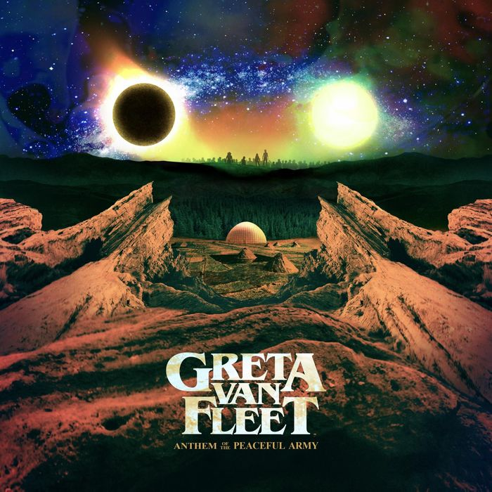 "Greta Van Fleet ""Anthem of The Peaceful Army"" cover copertina"