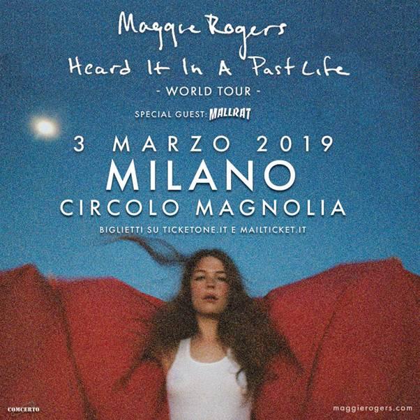 """La cantautrice del Maryland Maggie Rogers arriva in concerto a Milano con l'album di debutto """"Heard It In A Past Life"""""""