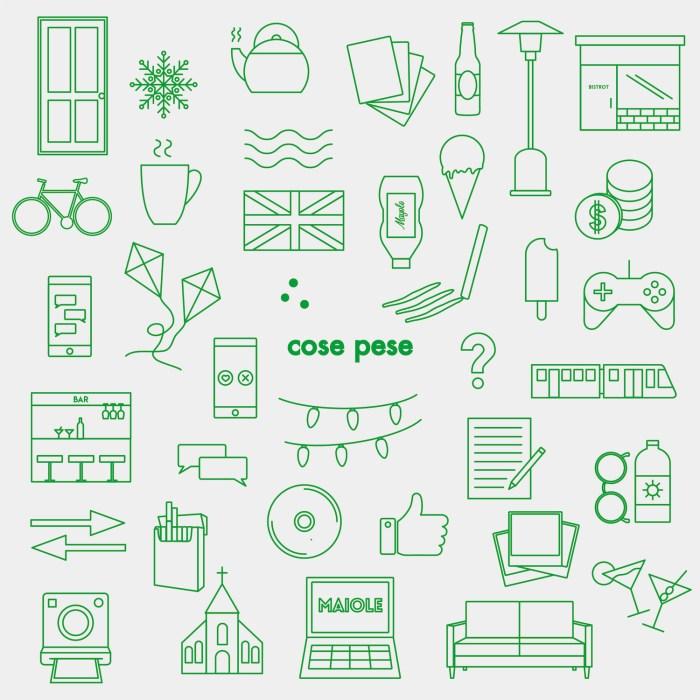 """Cover copertina album Maiole """"Cose Pese"""""""